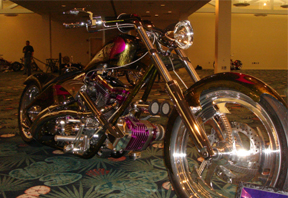 Dave's custom motorcycle